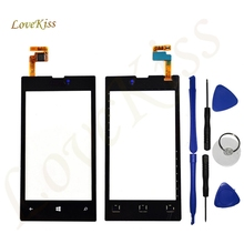 "high Quality Touch Panel For Nokia Lumia 520 N520 4.0"" Touch Screen Digitizer Sensor Front Glass Lens panel Free Tracking Tools"