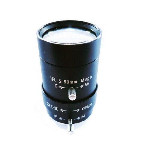 with IR-cut adapter and IR filter 5-50mm Megapixel lens MP HD manual focus manual iris vari-focal CS mount<br>