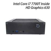 The smallest DIY mini computer with Intel i7 7700T, mini HTPC gaming box, pre-installed windows 10 64 bit, DDR4 ram+m.2 NVMe ssd