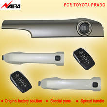 Car auto keyless entry push start with smart handle unlock remote start alarm system for toyota prado(China)