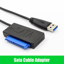 "New Arrived USB 3.0 to SATA 22P 2.5"" Hard driver HDD SSD Using 6G SATAIII Chip SATA Cable Adatper(China)"