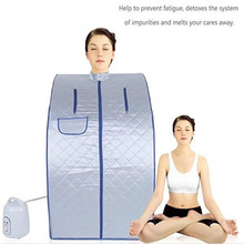 Portable Steam Sauna with steam generator iBeauty Home Sauna Box for slimming detoxin  burning calaries relieve pains of body