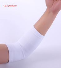 Salud nylon spandex material white golf tennis elbow guards support protection free shipping #ST6807(China)