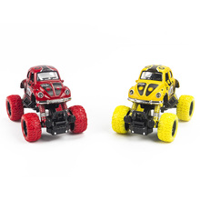 Mini Alloy Metal Diecast Car Baby Toys Kids 1: 36 Scale Pull Back Beetle Beat-up Car Model Vehicle Toy for Children Boy Gift