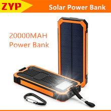 2016 Land Rover Solar Power Bank 20000mah with LED  Portable Dual USB External Battery Charger Powerbank for iphone 5s xiaomi