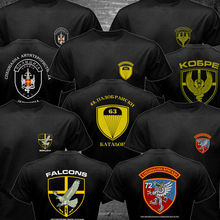 Serbia CAJ Special Force T shirt men two sides Police Anti Terroris Unit Army CAJ Falcons gift casual tee shirt USA size S-3XL