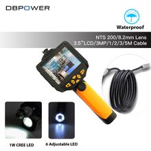 DBPOWER NTS200 3.5 LCD 3MP 720P HD Borescope USB Endoscope 8.2mm 1/2/3/5M Probe 6 Led 4X Zoom Inspection Video Cam 360 Degree(China)