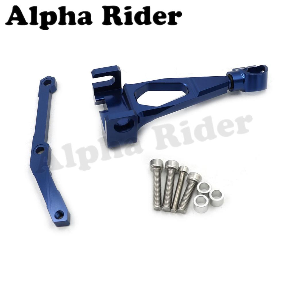 Blue CNC Direction Steering Damper Stabilizer Holder Bracket w/ Mounting Screws Kit for Yamaha FZ-09 MT-09 2013-2014 2015<br><br>Aliexpress