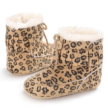 first walkers leopard tassel winter warm shoes shoes for baby bebe shoes crib shoes(China)
