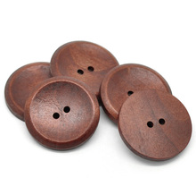 Hoomall 20PCs 2 Holes Big Wooden Sewing Buttons For Sweater Overcoat Clothing Sewing Accessories Scrapbooking 40mm(China)