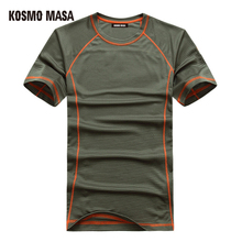 KOSMO MASA 2017 Quick Dry Breathable T-Shirt For Men Tees Space Jersey T Shirts Man Anime Fitness Hip Hop T-Shirts MC0153