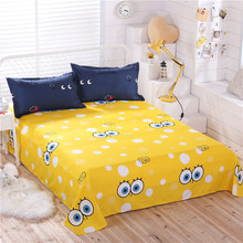 bed sheet cotton Sheets king size flat Sheet Single(China)