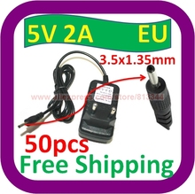 50 pcs Free Shipping 2A 5V AC EU plug Wall Power Charger ADAPTER w 3.5mm Cord for Velocity Micro Cruz Tablet(China)