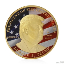Golden Donald Trump Make Great President America Commemorative Challenge Coin #WS270# Drop Ship(China)