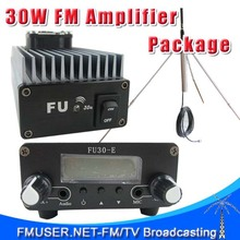 FMUSER FU-30A 30W Professional FM amplifier power amplifier+1/4 wave gp antenna KIT for FM transmitter 85-110MHz