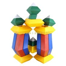 15pcs Diamond Changeable Pyramid Cube Geometry Magic Tower Building Blocks