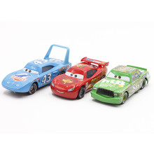 Disney Pixar Cars No.95 McQueen No.86 Chick Hicks No.43 King  1:55 Scale Diecast Metal Alloy Modle Cute Toys For Children Gifts