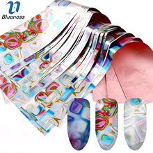 Blueness 8Rolls Magic Cube Design Laser Nail Transfer Foil Stickers Manicure DIY Decals For Nails Art Decorations Accessories(China)