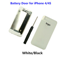 1PCS High Quality NEW Battery Door for iPhone 4 4S Back Housing Rear Cover Case Replacement Part with Tool White Black