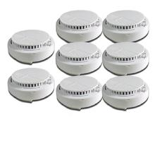 8 pcs 433mhz wireless smoke detector network for PSTN wifi gsm alarm system home security fire alarm system