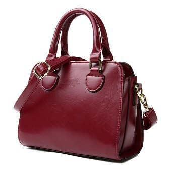 All Match Commuter Handbags Ladies Fresh Red Shoulder Messenger Bags Women PU Leather Bag<br>