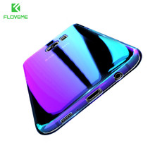FLOVEME Gradient Phone Cases For Samsung Galaxy S8 S8 Plus S7 S6 S7 Edge Aurora Blue Ray Cover For Xiaomi Mi5 Redmi 4 Pro Coque