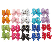 20pcs Multi Colors pet Cat Dog Hair Bow Ribbon Puppy perro Kitten Headdress Beauty Flower Bowtie Pets Grooming Supplies(China)