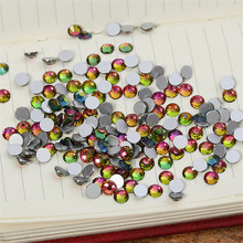 ss3 1.3-1.4 mm 1440pcs/bag Flat Back Best Crystal Rainbow ( 3d Nail Art decorations ) Non Hot Fix Glue on rhinestones for nails