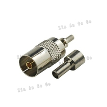 DVB-TV female crimp RF Coxial connector TV female Jack straight Crimp for RG316 RG174 LMR100 coaxial cable fast ship
