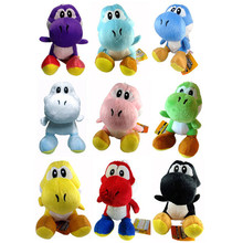 9pcs/Lot Peluche Mario Sit Yoshi Pelucia Animals Stuffed Mario Luigi Peach Yoshi King Kong Toad Plush Doll Kid Toys