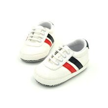 Brand Design Baby Striped Shoes Soft Leather Girls First Walkers Infant Baby Boy Soft Sole Toddler Fashion Boots Antislip Walker