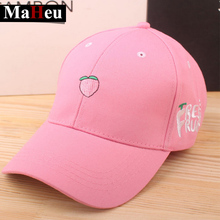 2017 Fruit Banana Baseball Cap New Arrival Spring Leisure Fresh Fruit Embroidery Hat Strawberry Cherry Orange Peach Women