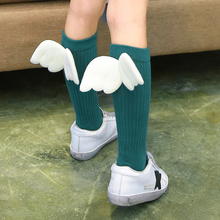 2016 Autumn/Winter 1-10y Baby Girl Knee high Socks New design Toddle Cotton Sock Cute Children leg warmer with wing c880