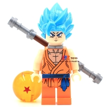 Single star wars superhero marvel Dragon Ball Z Goku Son Vegeta building blocks model bricks toys for children brinquedos menino