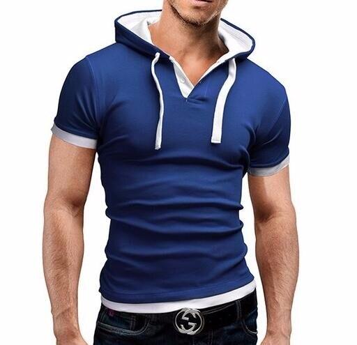 HTB13.V0LVXXXXcsXXXXq6xXFXXX7 - Men'S T Shirt 2017 Summer Fashion Hooded Sling Short-Sleeved Tees Male Camisa Masculina T-Shirt Slim Male Tops 4XL