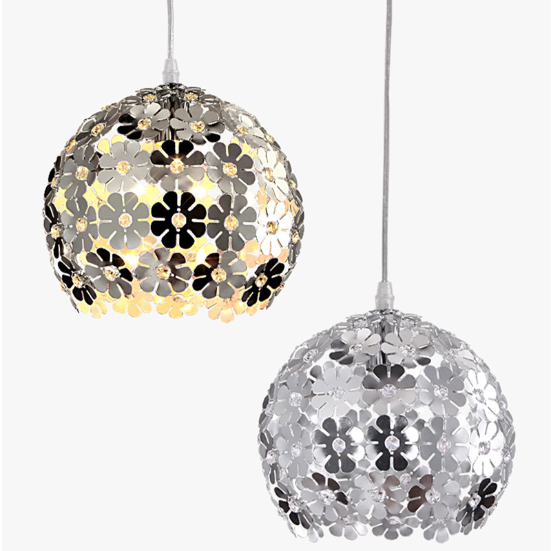 Modern Flower Pendant Lamp Crystal Chandelier Aluminum Hanging Lamp Light Fixtures Kitchen Lustre lamparas colgantes luminaire<br>