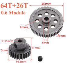 11184 Spur Metal Diff Main Gear 64T 11176 Differential Motor 26T RC Car Replacement Parts for Redcat Tornado EPX HSP 1/10 Buggy