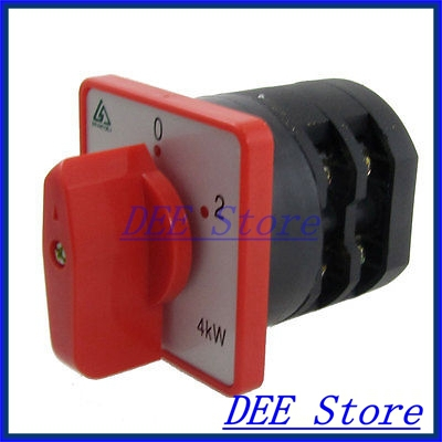4KW 20A 1-0-2 on/off/on Position Rotary Combination Switch<br><br>Aliexpress