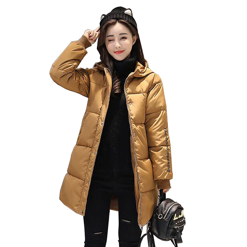 Long Winter Jacket Women 2017 Thick Warm Hooded Embroidery Female Jacket Winter Coat Women Parkas Cotton Padded Women Outwear Îäåæäà è àêñåññóàðû<br><br>