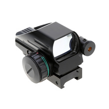 Hot Hunting Riflescopes 1X33 Red Green Dot Sight Scope Illuminated Tactical Laser Scope Optics Reflex Lens with Tail Switch
