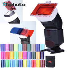 Falcon Eyes CFA-30K Flash Speedlite 30 Colors Color Gel Kit with Barndoor & Reflector & Bag for Canon Nikon YONGNUO GODOX flash(China)