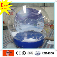 2016 best price commercial grade christmas xmas lift size inflatable snow globes with santa decorations wholesale