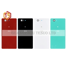1pcs Free Shipping Z3 mini Back Housing Battery Door Glass Cover HH for so ny xperia Z3 Compact D5803 D5833 back cover+Tools(China)