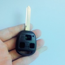 10PCS Replacement 3 Buttons Remote Key Shell TOY47 blade For Toyota South Africa Without LOGO(China)