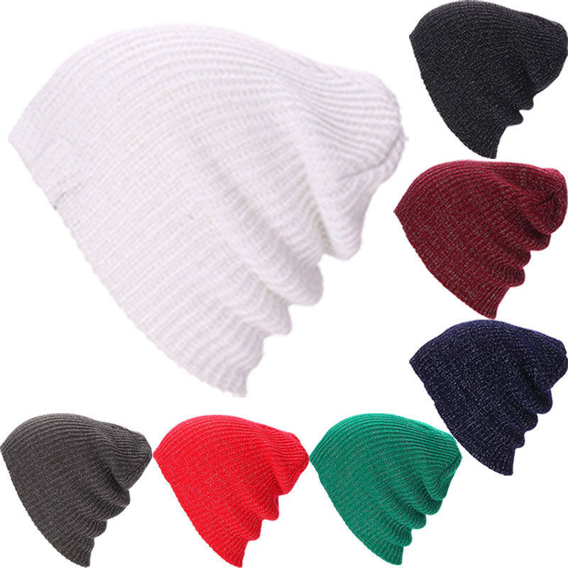 Winter Beanies Hats Solid Color Hat Unisex Warm Soft Beanie Knit Cap Knitted Caps For Men Women Happybuy(China (Mainland))