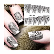 YZWLE 1 Sheet DIY Decals Nails Art Water Transfer Printing Stickers Accessories For Manicure Salon  YZW-7317