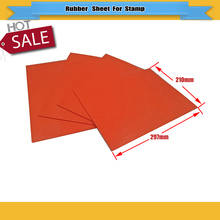 Two Pcs/lot Red Co2 Laser Rubber Sheet laser Engraver Stamp Maker 297*210*2.3mm Free Shipping(China)