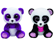 Beanie Pie Boom Boom Purple Panda Bear Plush Toy Cute Stuffed Animal Big Eyes 6'' 15CM Baby Kids Toys for Children Gifts