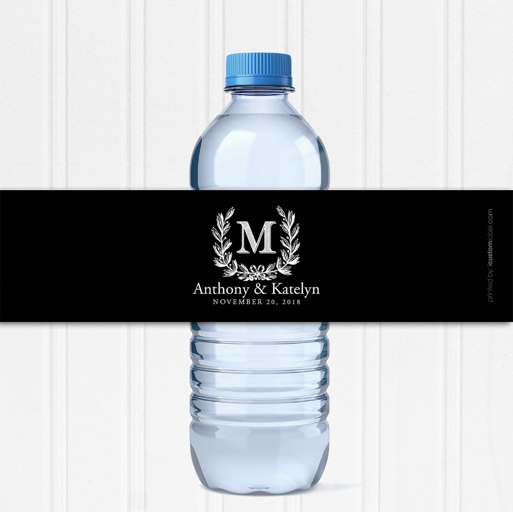 Personalised water bottle wedding