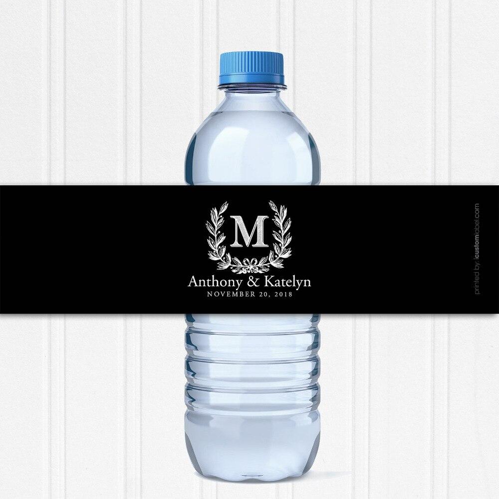 Personalised water bottle wedding